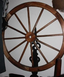 Large wooden wagon wheel