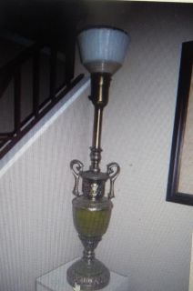 "Gorgeous VTG 40"" REMBRANDT ORNATE BRASS TORCHIERE TABLE LAMP LIGH"
