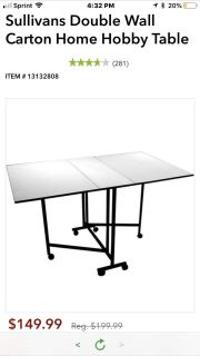 Collapsible sewing/cutting table