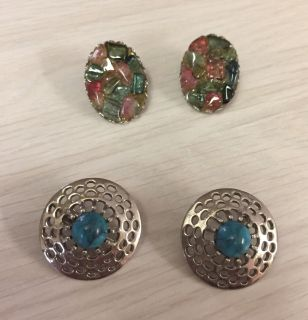 Clip-on earrings 3 pairs for one price