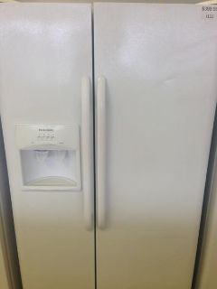$399.99, 25 Cu. Ft. White Frigidaire Side by Side Refrigerator-i112