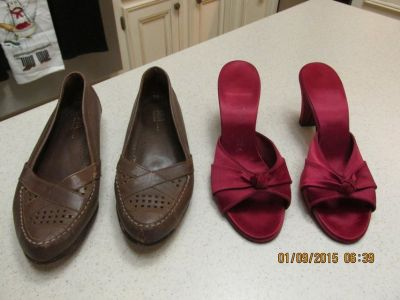 $2.00 For Womens' Shoes - Red Ones Never Worn!
