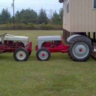 2 8N ford tractors