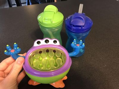 Straw Cup x2, kid snack cup