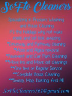Cleaning and pressure washing services