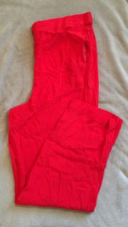 Brand new bright red pants size Large. Beautiful color!