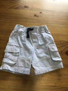 Carters Navy and white Cargo shorts