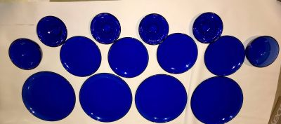 Cobalt Blue Dishes Set