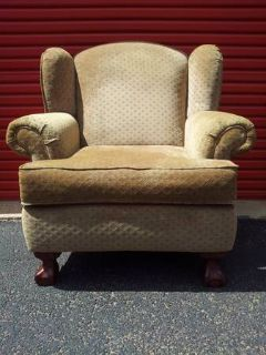 VERY NICE LARGE CARTERS WING BACK CHAIR