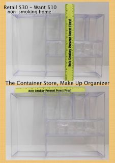 Acrylic Make Up Organization Tray The Container Store