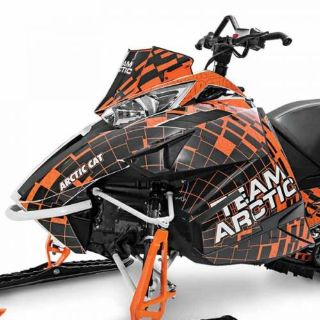 Sell Arctic Cat 2012-2016 ZR F XF M Burst Hood & Side Panel Decal Wrap - Orange motorcycle in Sauk Centre, Minnesota, United States, for US $153.99