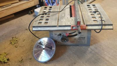 10 inch table saw + 10 inch finishing blade master craft