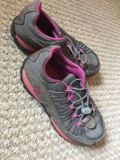 Girls grey and pink hiking shoes