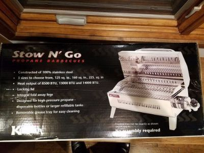 Find NEW - Kuuma Stow N' Go 160 Gas BBQ Grill 13,000BTU motorcycle in Milwaukee, Wisconsin, United States, for US $145.00