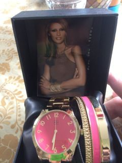 IMAN Watch and Bracelet Set