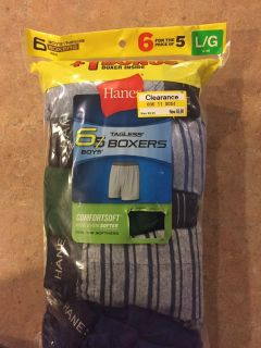 Hanes boxers - size large