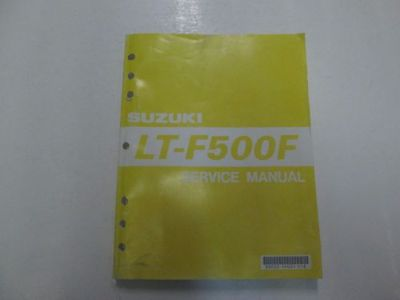 Purchase 1998 99 00 01 2002 Suzuki LT-F500F Service Manual WORN FADING STAINS FACTORY*** motorcycle in Sterling Heights, Michigan, United States, for US $24.99