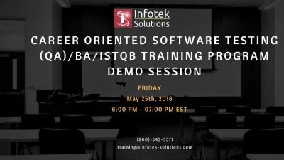 Career Oriented Software Testing , QA/BA , ISTQB Training Program