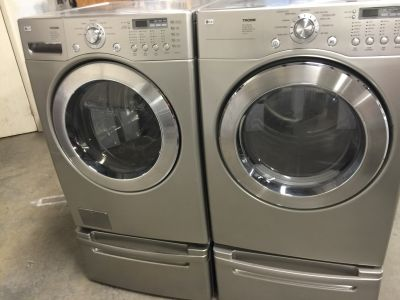 LG FRONT LOADER WASHER&DRYER WITH PEDESTAL