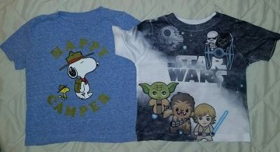 Star Wars & Snoopy Toddler T-shirts