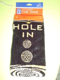 ''HOLE IN ONE'' THICK GOLD TOWEL (FATHER'S DAY)
