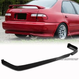 Sell Type R Style Polyurethane PU Rear Bumper Lip Wing 1992-1995 Honda Civic Sedan motorcycle in Rowland Heights, California, United States