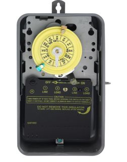NEW- Intermatic T104R 40 Amp 208-277 Volt DPST 24-Hour Mechanical Time Switch with Outdoor Enclosure