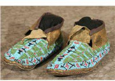 $300 Sioux Beaded Moccasins
