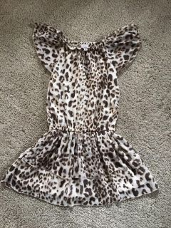 The Children s Place lined animal print dress size 7/8