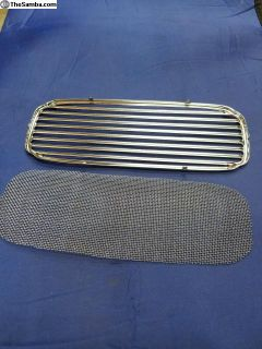 Oval Window Bug Chrome Dash Grill With Mesh