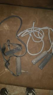 Jumprope and exercise band both $4