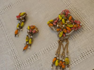broach and earrings from 1966