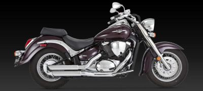 Sell Vance & Hines Exhaust Twin Slash Staggered Chrome Suzuki Boulevard C50 2001-2009 motorcycle in Pomona, California, US, for US $413.95