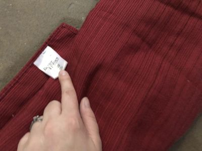Large table cloth dark red
