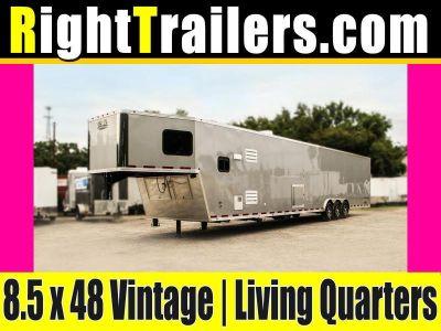 8.5x48 Vintage Outlaw | Living Quarter Trailer