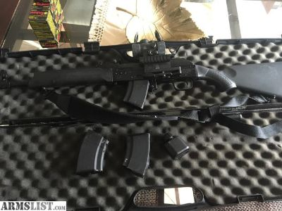 For Sale: AK-47 SAIGA 7.62x 39 with scope, mags, case and ammo