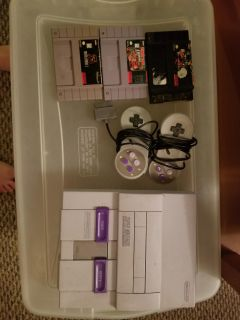 SNES and 3 games