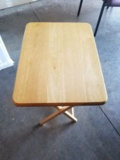 Solid wood laptop/snack table