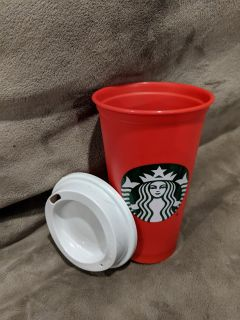 New StarBucks RED CUP 2019 holiday reusable