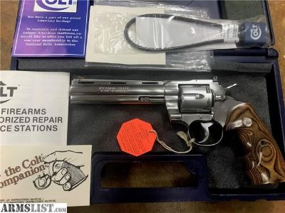 "For Sale: Colt Python ELITE Custom Shop 6"" SS Stainless"