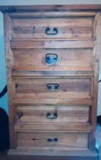 $250, Rustic Wood chest of drawers