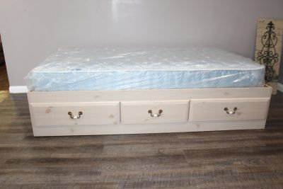 Twin size bed- Mattress included