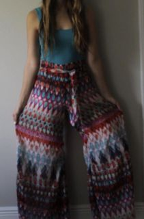 Colorful flowy pants