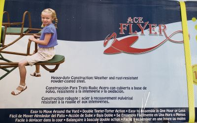 Lifetime Ace Flyer - Airplane Teeter Totter - earthtone color