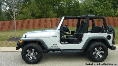 2001 Jeep Wrangler White