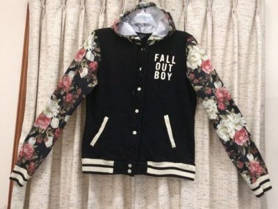 Fall Out Boy Floral Varsity Hoodie
