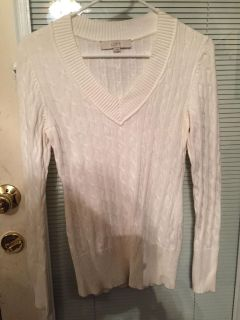 Ann Taylor Loft size small off white sweater. NWOT