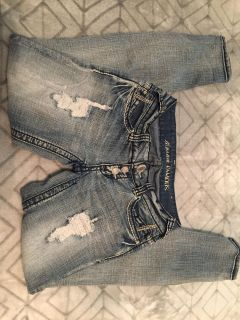 Almost Famous stonewashed skinny jeans, size 1