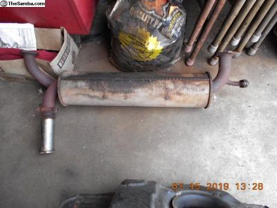 Used , good condition FI muffler off 1979 Bug