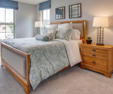 Brand new queen bed frame and two nightstands